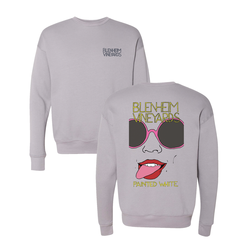 2019 Painted White Crew Sweatshirt