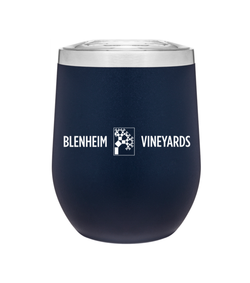 Black Stainless Steel Wine Tumbler With Lid